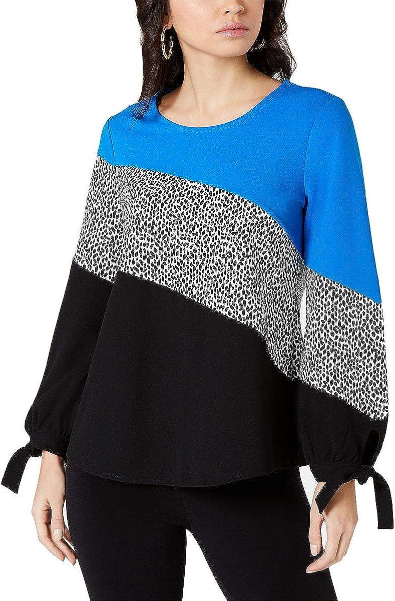 Alfani Womens Tie Sleeve Pullover Blouse