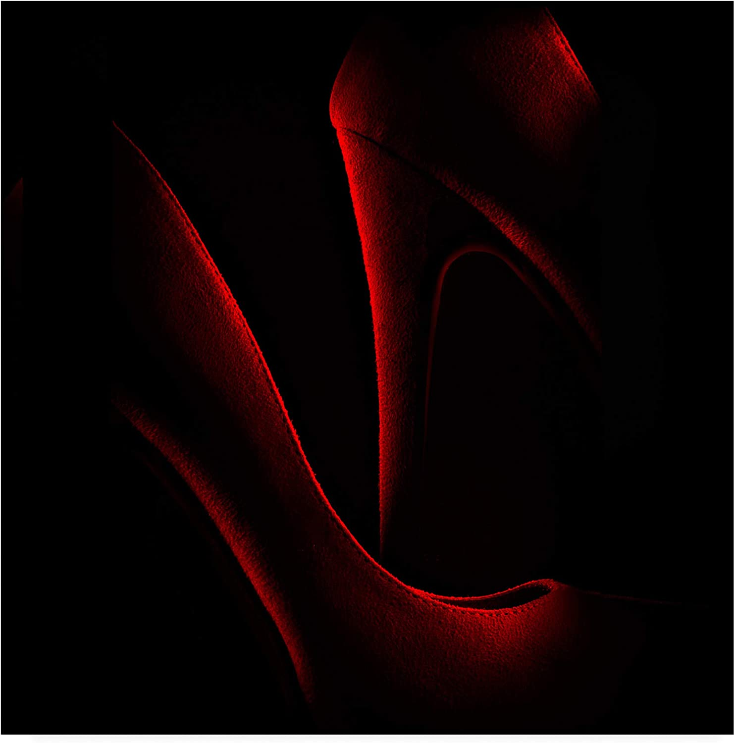Trademark Fine Art shoes in Red by Don Clark, 14x14