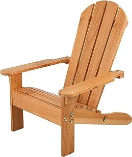 KidKraft 83 adirontak utomhus lounge stol av trä – trädgårdsmöbler för barn – honungsfärger