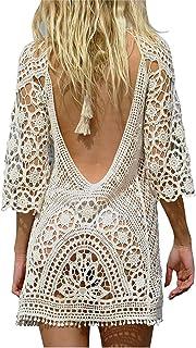 Traje de baño de Las Mujeres Bikini Traje de baño Vestido de Playa Crochet