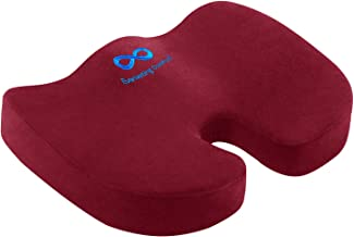 Everlasting Comfort Seat Cushion for Office Chair - Tailbone Pain Relief Cushion - Coccyx Cushion - Sciatica Pillow for Si...