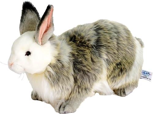 Hansa Jacquard Rabbit Stuffed Plush Animal