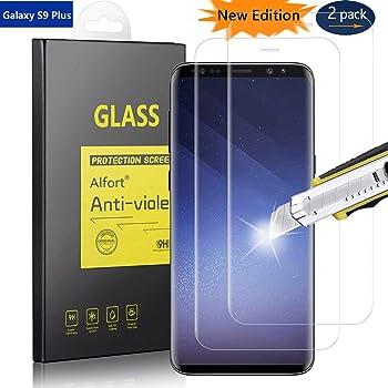 Alfort Samsung Galaxy S9 Plus 2 x Cristal Templado, Protector de ...