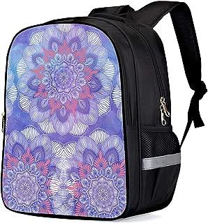 Backpack for School - India Mandala Hippy Boho Gypsy Girls School Bags Kids Bookbags Teens Shoulder Bag Casual Laptop Bag with Bottle Side Pockets