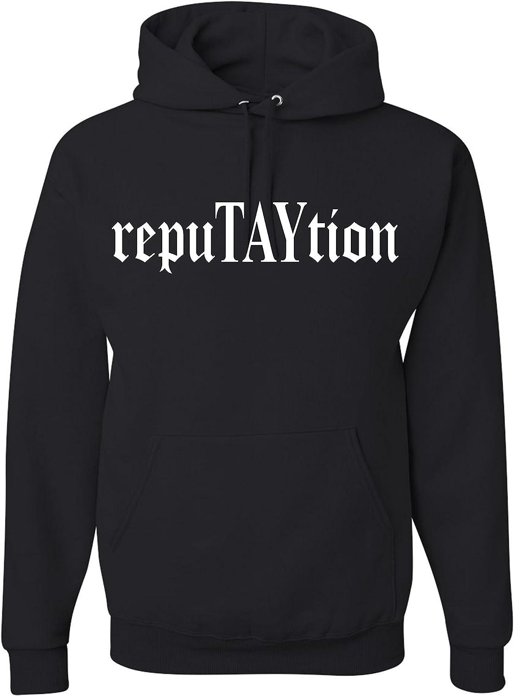 RepuTAYtion Unisex Hooded Sweatshirt Black