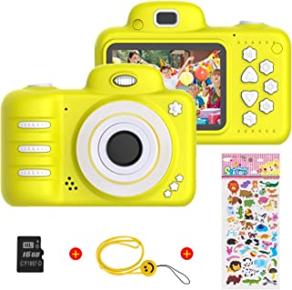 Themoemoe Kids Camera, Camera for Kids Video Cameras Kids Digital Camera 8MP 1080P HD Camera for 3-10 Year Old Girl with 1...