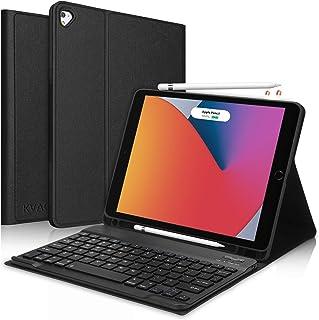 iPad 8 2020 キーボード ケース第8代 iPad 10.2 キーボード ケース第7世代Apple pencil 収納 脱着式Bluetooth スマートキーボードカバー KVAGOペンシルホルダー付き 2019最新版iPad 8 20...