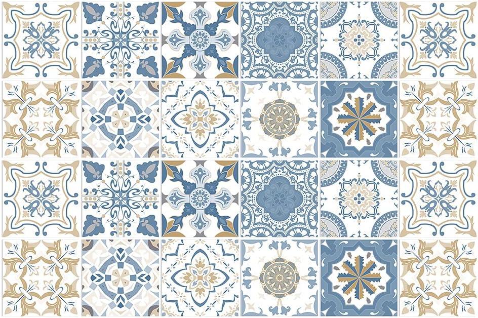 BROWSHAPER 24pcs Backsplash Tile Ranking TOP20 Sticker Stick Wallpape Fresno Mall DIY Peel