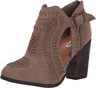 booties with cutouts and buckles