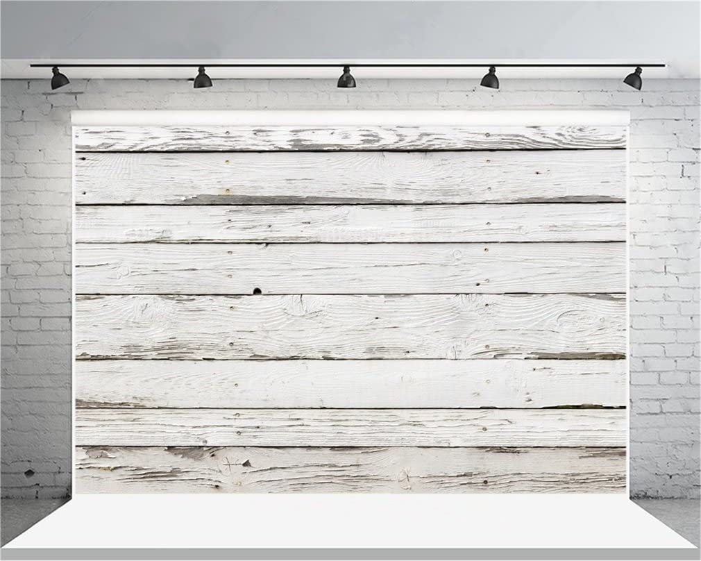 AOFOTO 12x8ft Weathered Wooden Fence Photography Background Vintage Shabby Wood Plank Backdrop Old Hardwood Panels Kid Adult Artistic Portrait Nostalgia Photoshoot Studio Props Video Drape Wallpaper