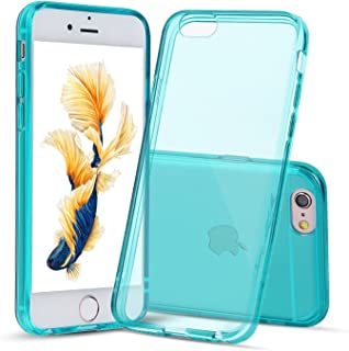 Shamo's Case for iPhone 6 and iPhone 6s Crystal Clear Shock Absorption TPU Rubber Gel Transparent (Teal)