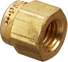 Parker A-Lok 8NU8-B Brass Compression Tube Fitting, Nut, 1/2