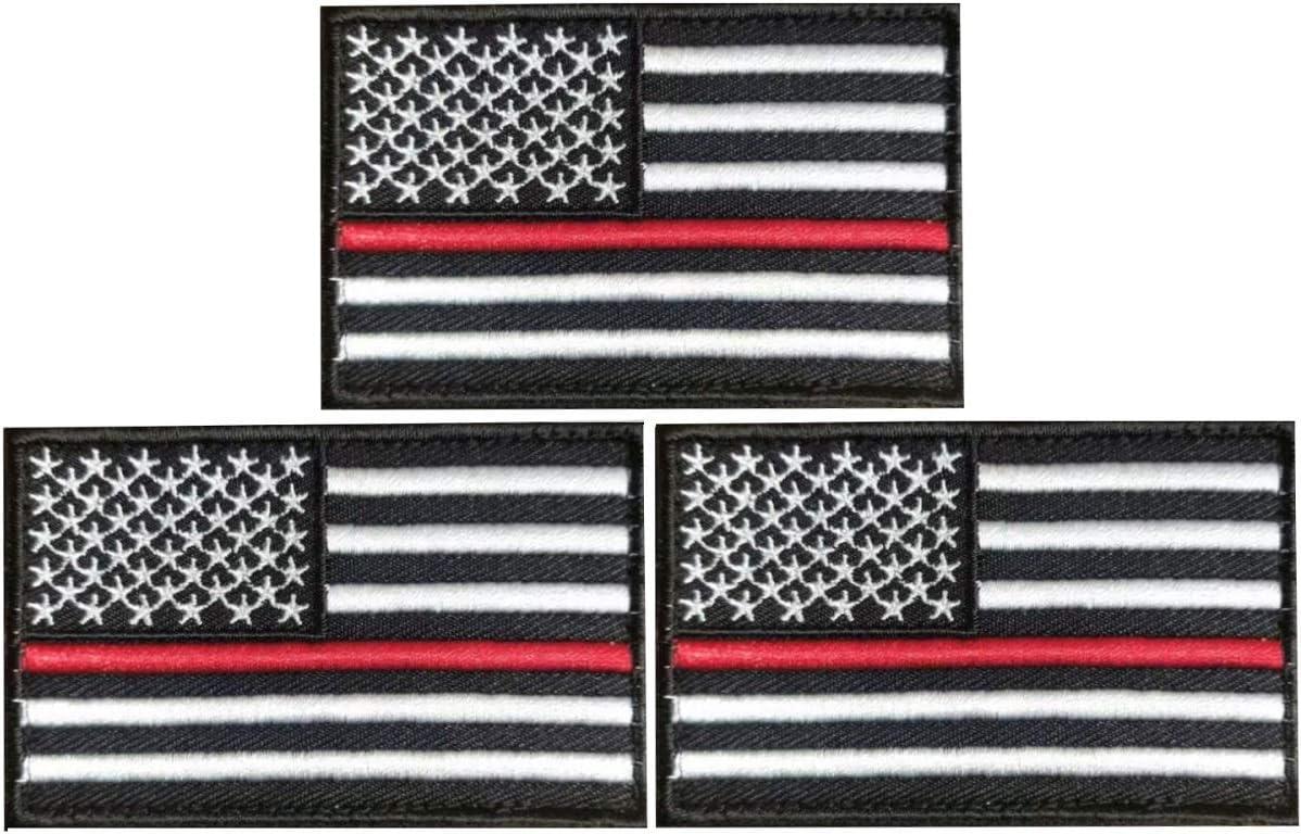 JAVD 3Pack USA Thin Regular dealer Red Max 70% OFF Fi US Patch Fireman Line