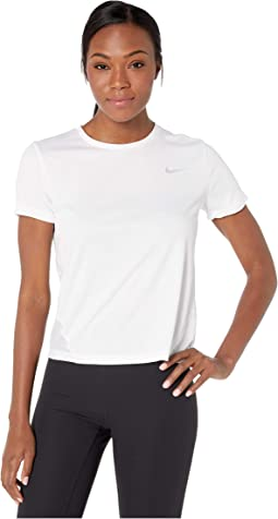 44c5b5a33be13 White Reflective Silver. 2. Nike. Miler Top Short Sleeve