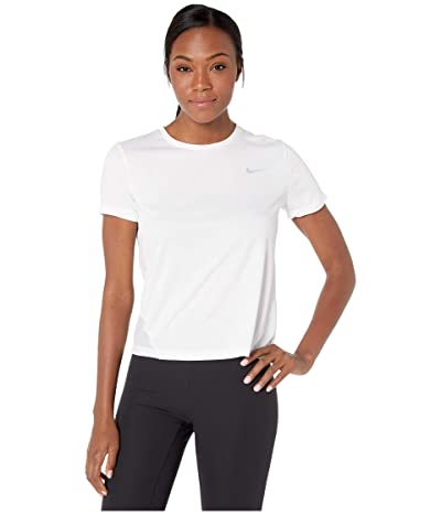 Nike Miler Top Short Sleeve (White/Reflective Silver) Women