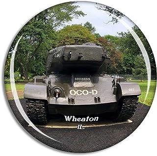 Wheaton Cantigny Park Illinois USA Magnet Travel Souvenir 3D Crystal Glass Collection Gift Refrigerator Sticker