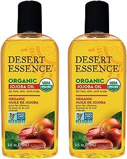 Desert Essence Organic Jojoba Oil - 4 Fl Oz - Pack of 2 - Moisturizer for Face, Skin, Hair - Cleanses Clogged Pores - May ...
