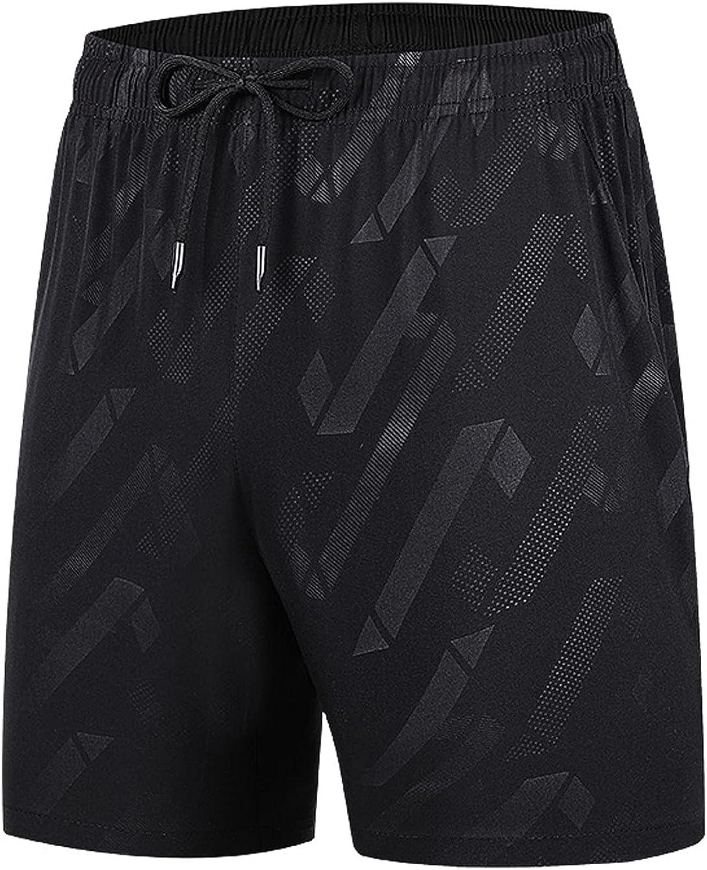 Tantisy Men Shorts Pants Summer Ice Silk Quick-Drying Elastic Sports Leisure Soft Plus Size Beach Comfort Active Shorts