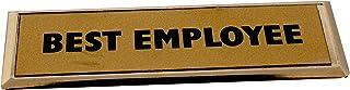 Golden Divine Creations Best Employee Metal Badge Magnet Golden