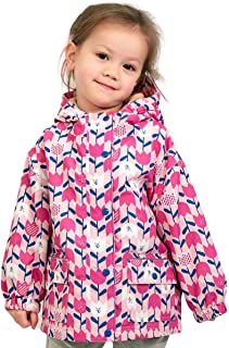 JAN & JUL Kids Water-Proof Fleece-Lined Rain Coat Jacket Hooded