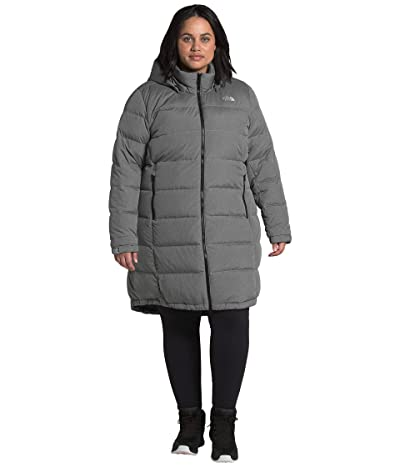 The North Face Plus Size Metropolis Parka III (TNF Medium Grey Heather) Women