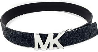 Signature Monogram Reversible Black/Brown Belt Silver MK Logo