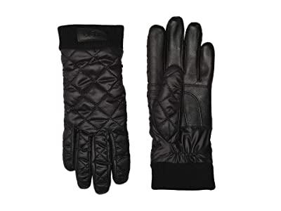 UGG Quilted All Weather Tech Gloves with Sherpa Lining (Black) Extreme Cold Weather Gloves