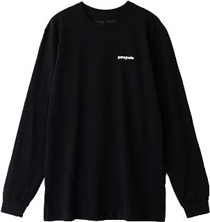 [パタゴニア]Patagonia Men's Long-Sleeved P-6 Logo Responsibili-Tee Tシャツ 長袖 39161 Black [並行輸入品]