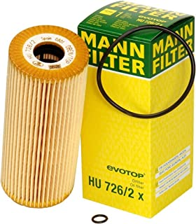 فلتر زيت خالٍ من المعدن موديل HU 726/2 X من مان فلتر (عبوة من قطعتين)