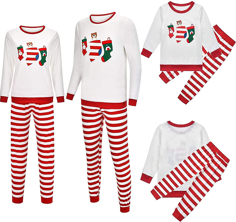 Raheem Christmas Family Pajamas Matching Sets Xmas Holiday Sleepwear for Couples and Kids Baby Sleepwear (Color : Men, Size : 3XL)