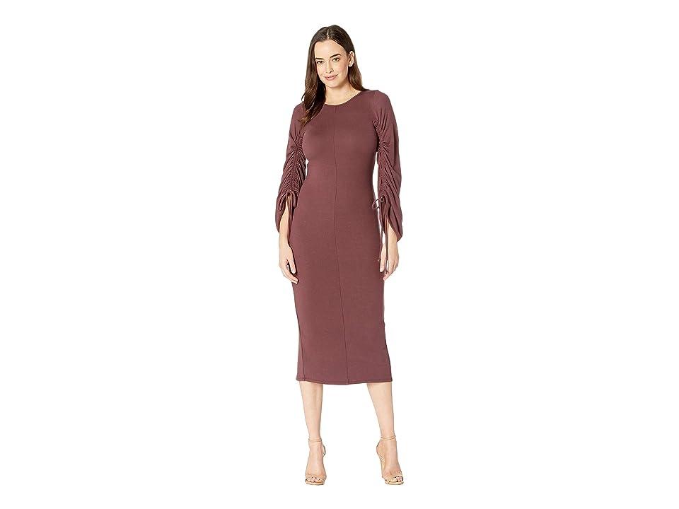 Rachel Pally Luxe Rib Clairissa Dress (Plum) Women