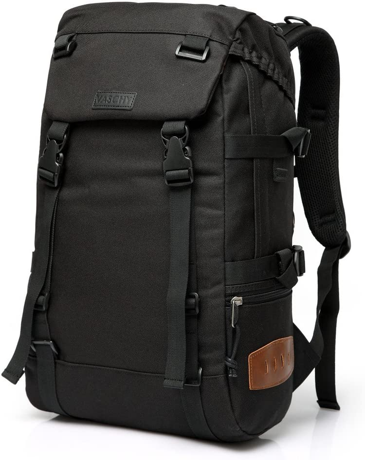Travel OFFicial mail order Backpack gift for Men VASCHY Unisex B Anti Hiking Theft Buckle