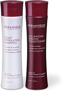 Keranique Shampoo and Conditioner Set for Hair Growth and Thinning Hair | Keratin Hair Treatment | Keratin Amino Complex, ...