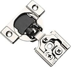 Alzassbg Hardware AL9202A, 1/2 Inch Overlay 105 Degree Nickel Plated Self Closing Cabinet Hinges 10 Pack