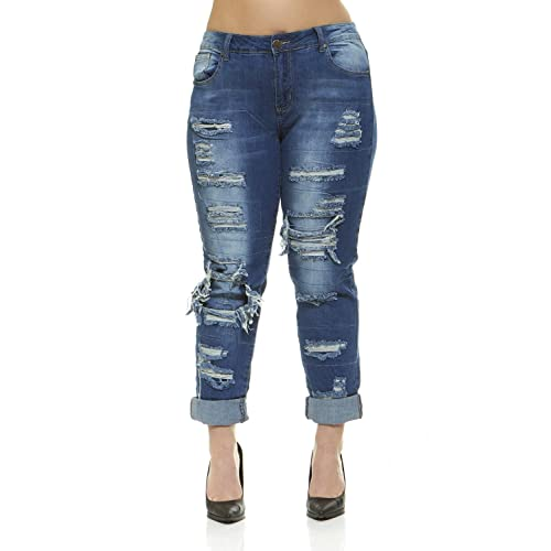 f536be2eab3 V.I.P.JEANS Women s Juniors Ripped Distressed Repaired Skinny Jeans