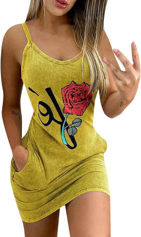BAGELISE Summer Dresses for Women, Women's Off Shoulder Sleeveless Floral Print Plus Size Maxi Dress Beach Sundress