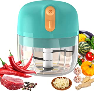VOUM Electric Mini Food Chopper,Cordless Portable Electric Garlic Mincer 250ML, Three Leaf Blades Are More Powerful, Mini ...