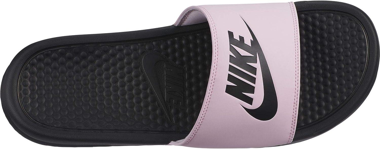Nike Men's Benassi Just Do It. Sandal, Pink Foam/Black/Black (US 13)