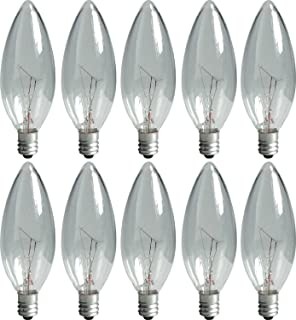 GE 74978 25-Watt Candelabra Light Bulb, Blunt Tip, 10-Pack