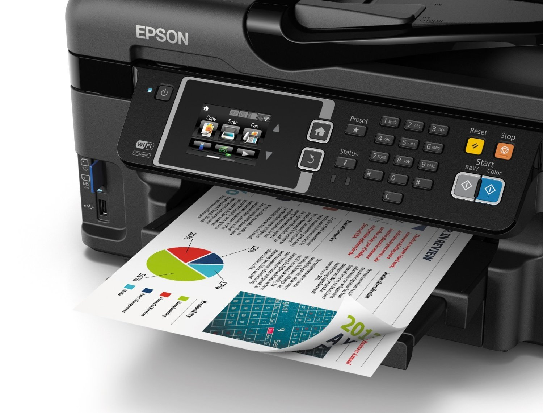 Epson WorkForce WF-3620 WiFi Direct All-in-One Color Inkjet Printer, Copier, Scanner, Amazon Dash Replenishment Ready