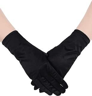 Short Satin Gloves Wrist Length Gloves Women's Gown Gloves Opera Wedding Banquet Dress Glove for Party Dance