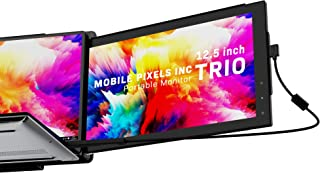 Mobile Pixels 12.5'' Trio & 14'' Trio Max Portable Monitor for Laptops,Full HD IPS USB A/Type-C USB powered On-The-Go Mobi...