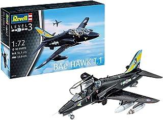 Revell RV04970 04970 BAE Hawk T.1, flygplansmodellbyggsats 1:72, 16,1 cm modellbyggsats för nybörjare, olackad