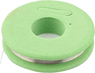 sourcingmap 80 Ronda Cable calefactor nicromio 0,1mm 38 calibre AWG 32,8pies Rollo verde cáscara