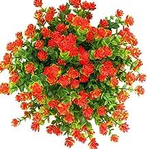 E-HAND Artificial Flowers Outdoor Red UV Resistant Plants Plastic Fake Window Box Wholesale 4PCS
