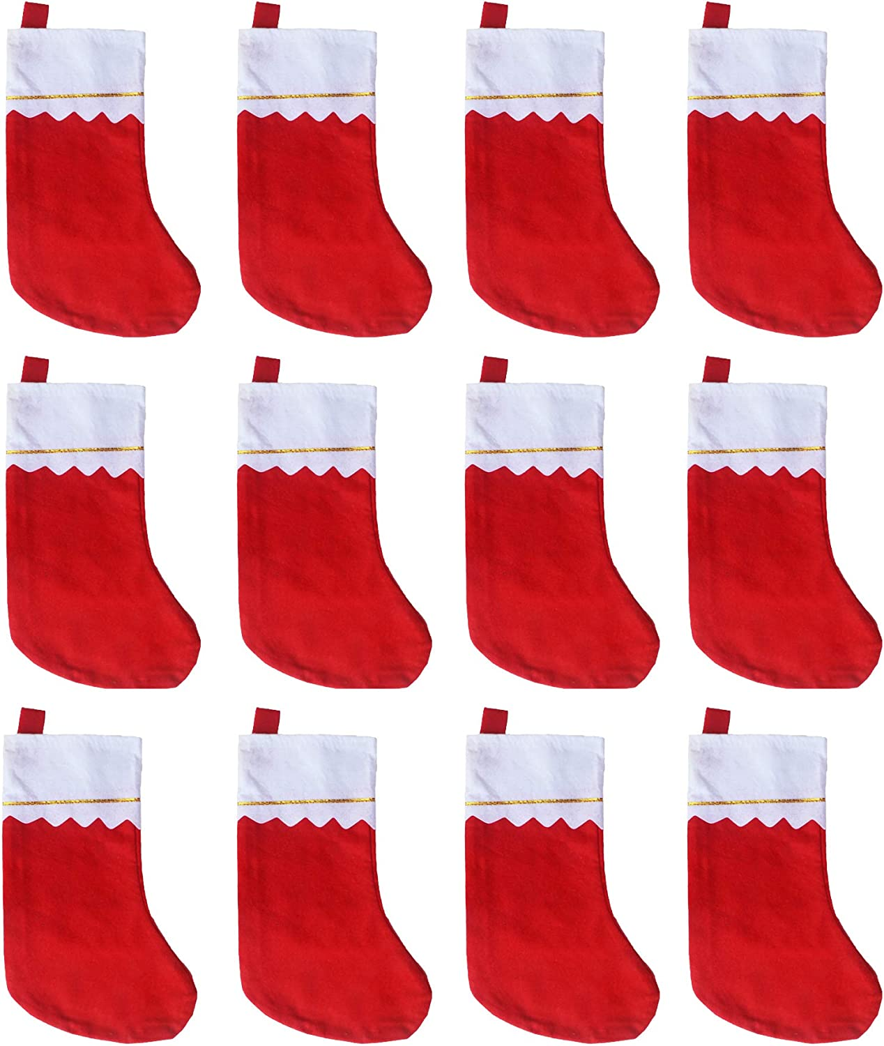 ANIUHL 12 Pcs Free shipping on posting reviews DIY Allowed Basic Inc 15 Cheap super special price Felt Christmas Stockings