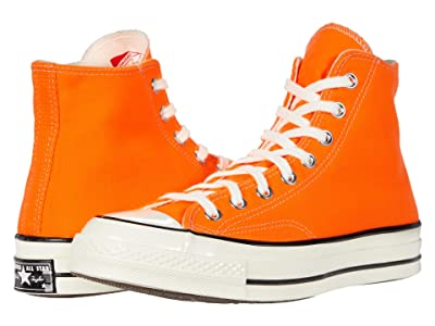 Converse Chuck 70 Vintage Canvas Hi (Total Orange/Egret/Black) Classic Shoes
