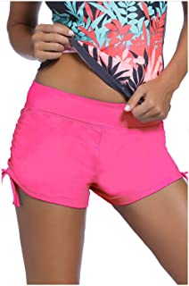 BTPEIHTD Women's Swim Shorts Solid Swimsuit Bottoms Quick Dry Swim Board Shorts with Adjustable Ties