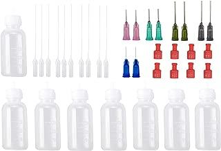30Milliliter Precision Applicator Bottle with Blunt Tip Needle and Cap|14ga 16ga 18ga 20ga 22ga Blunt Needles|Oil Dropper Bottle, Glue Applications (Pack of 8)