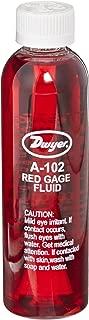 Dwyer Gauge Fluid, Red, 4 Oz Bottle, 0.826 sp. gr.